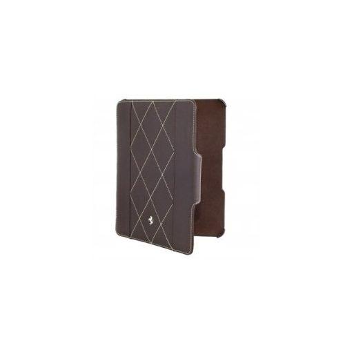 Husa pentru iPad 4 de Piele, Ferrari Scuderia Flip, Unisex, Maro, 2013