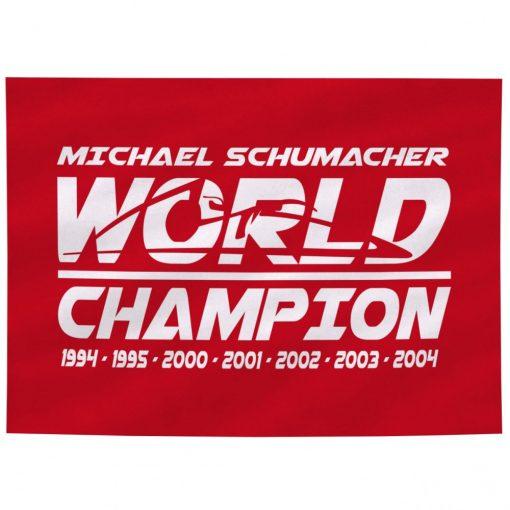 Steag, Michael Schumacher World Champion, Unisex, Rosu, 2018